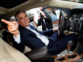 Transportation Secretary Ray LaHood gets behind the wheel of a Buick to start the incentive program this week.