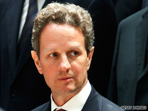 Treasury Secretary Timothy Geithner says the stimulus plan is working, but tough choices may be ahead.