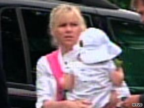 Rielle Hunter is seen arriving at a federal courthouse in Raleigh, North Carolina, on Thursday.