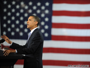 President Obama talks about the economy Wednesday at the Monaco RV plant in Elkhart County, Indiana.