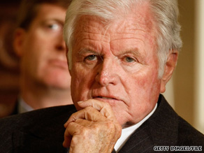 Sen. Ted Kennedy attends a health care forum in March. Kennedy died Tuesday night.
