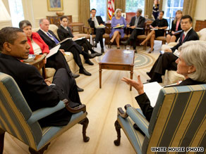 President Obama meets Wednesday with top advisers to discuss plans regarding the H1N1 virus.