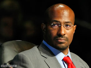 Van Jones speaks during the National Clean Energy Summit in Las Vegas, Nevada, in August.