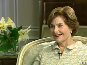 Former first lady Laura Bush defended President Obama's decision to address the nation's schoolchildren.