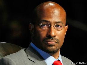 "Van Jones resigned from his ""green jobs czar"" post amid criticism."