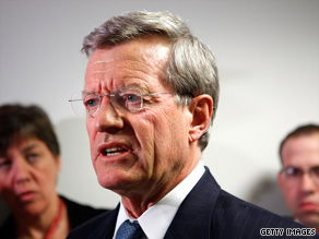 Sen. Max Baucus' plan would drop the public option provision favored by many Democrats for health care.
