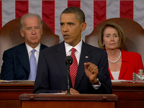 "President Obama told a joint session of Congress that the ""time for bickering"" over health care is over."