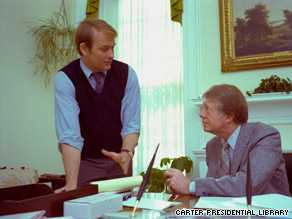 Former White House Press Secretary Jody Powell died Monday.