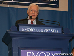 In Atlanta, Georgia, on Wednesday, Jimmy Carter again linked harsh Obama criticism to racism.