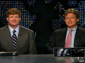 "Rep. Patrick Kennedy, left, and Ted Kennedy Jr. appear on ""Larry King Live"" on Monday evening."