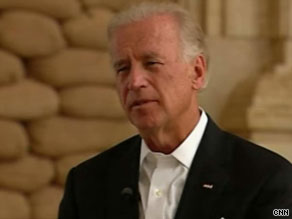 Vice President Biden says success in Afghanistan depends on Afghans feeling they have a legitimate government.