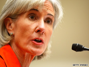 HHS Secretary Kathleen Sebelius says 1 percent of health care costs are attributable to malpractive premiums.