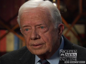 Former U.S. President Jimmy Carter told NBC that racism has surfaced in opposition to Barack Obama.