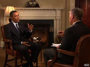 President Obama interviewed by John King on CNN's Sunday morning show, State of the Union.