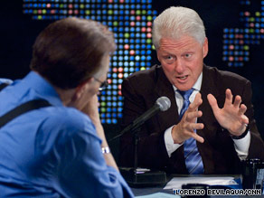 Former President Bill Clinton says Democrats need to win the health care debate ''on the merits.''