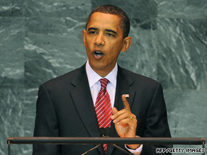 President Obama cites four pillars needed for cooperation in a speech Wednesday at the U.N. General Assembly.
