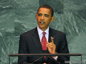 President Obama addresses the U.N. General Assembly on Wednesday.