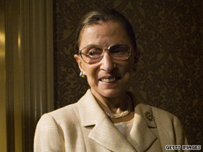 Supreme Court Justice Ruth Bader Ginsburg became ill in her chambers on Thursday.
