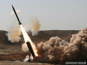 Amid growing tensions with Washington over its nuclear ambitions, Iran tests a short-range missile on Sunday.