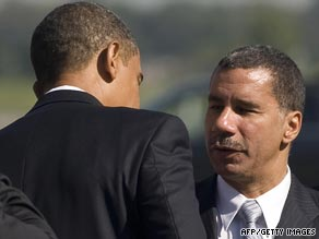 New York Gov. David Paterson, right, with President Obama last week in Albany, New York.