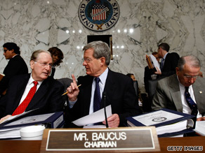 "Sen. Max Baucus said the public option provision would ""hold back meaningful reform this year."""