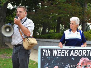 Anti-abortion activists demonstrate on Capitol Hill in Washington in September.