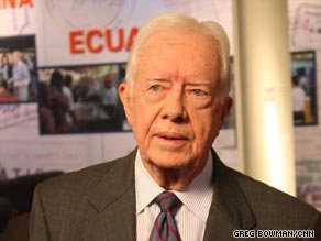 President Carter says the U.S. should take a diplomatic approach toward Iran.