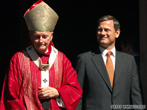Cardinal Theodore McCarrick and Chief Justice John Roberts attend Red Mass in 2005.