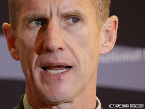 """We must protect the Afghan people,"" McChrystal said, ""from the enemy and from our own actions."""