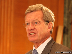 "Senate Finance Committee chairman Max Baucus says the bill ""will improve the lives of every American."""