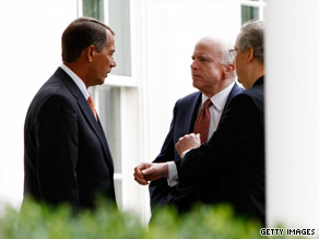 Top Republicans were at the White House on Tuesday to meet with President Obama.