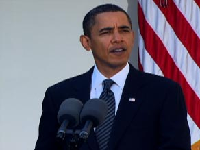 President Obama delivers remarks at the White House on Friday after winning the Nobel Peace Prize.