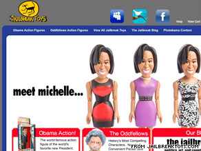 The Michelle Obama doll is available in three outfits, all of which show off her trademark bare arms.