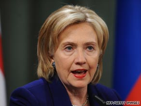 """Hillary Clinton criticized people """"living in the past"""" over the Cold War."""