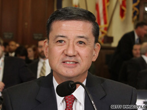 VA Secretary Eric Shinseki says the backlog for processing claims by veterans is too long.