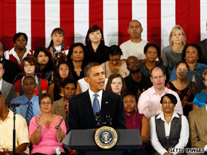  President Obama speaks at a town hall meeting at the University of New Orleans on Thursday.