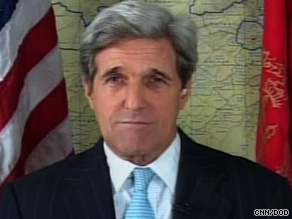 Sen. John Kerry cautioned against moving too quickly to raise troop levels in Afghanistan.