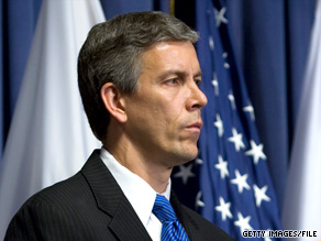 Education Secretary Arne Duncan: 'strategically moving more money' for education.