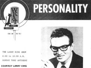 Larry is featured on a WKAT radio sales sheet from the 1960s.