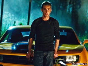 """Shia LaBeouf is accompanied by his trusty Transformer pal in """"Transformers: Revenge of the Fallen."""""""
