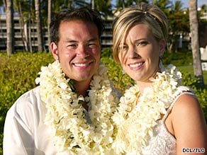 "Kate Gosselin, shown at an event last year, says she filed for divorce Monday ""to protect myself and our children."""