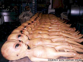 "These ""aliens"" are among the items to be auctioned off by 20th Century Props."