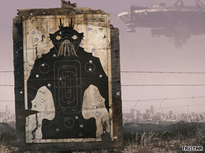 """Aliens from outer space are kept penned up in a South African township in """"District 9."""""""