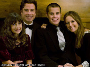 Actors John Travolta and Kelly Preston say they are &quot;heartbroken&quot; over their son's death.