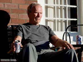 """Gran Torino,"" says Tom Charity, is all about Clint Eastwood. And that's a great thing."
