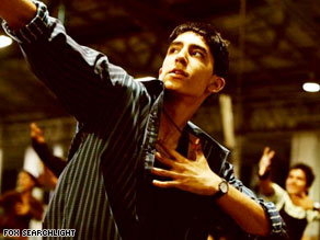 "Dev Patel stars in ""Slumdog Millionaire,"" which won the Golden Globe for best drama Sunday night."