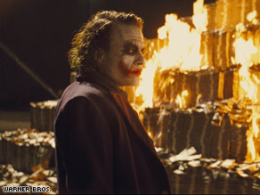 "The late Heath Ledger won a Golden Globe for his performance as The Joker in ""The Dark Knight."""