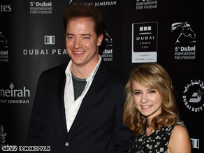 """Brendan Fraser and Eliza Hope Bennett star as father and daughter in the film """"Inkheart."""""""
