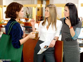 "Ginnifer Goodwin, Jennifer Aniston and Jennifer Connelly compare notes in ""He's Just Not That Into You."""
