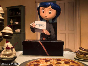"The title character looks over a note from her ""other parents"" in ""Coraline."""